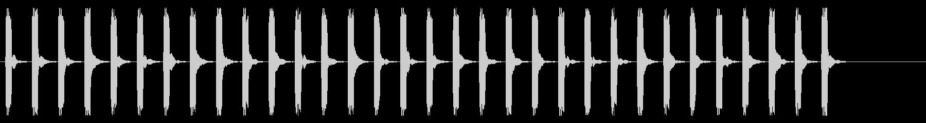 心電図の音-3-9(BPM120)の未再生の波形