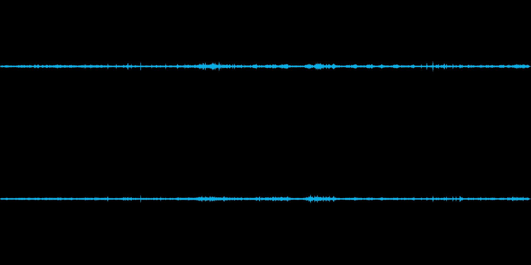 里山の野鳥と風の環境音(秋)の再生済みの波形