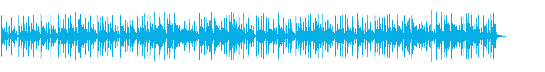 スティールパンによるほのぼのした曲の再生済みの波形