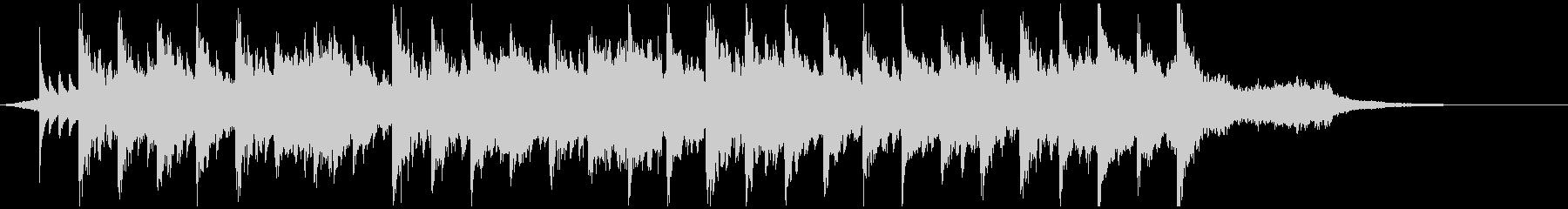 幻想的な映像、ピアノ、ポストクラシカル5の未再生の波形