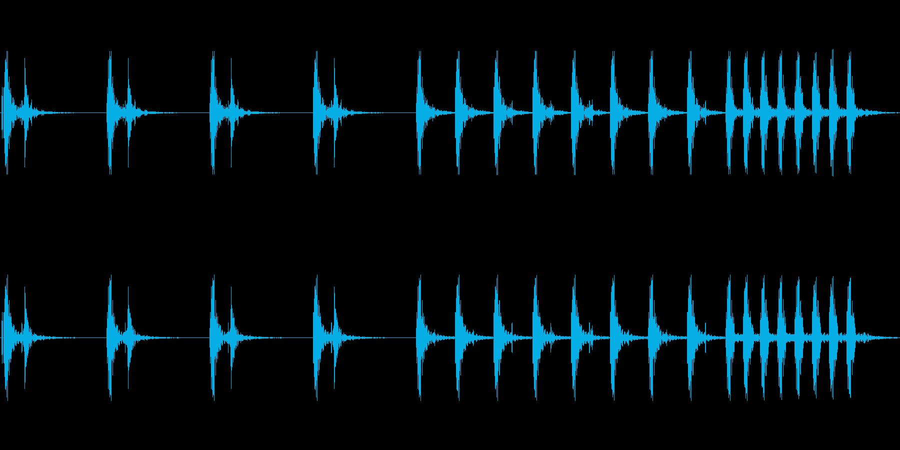 ドクン ドクンの再生済みの波形
