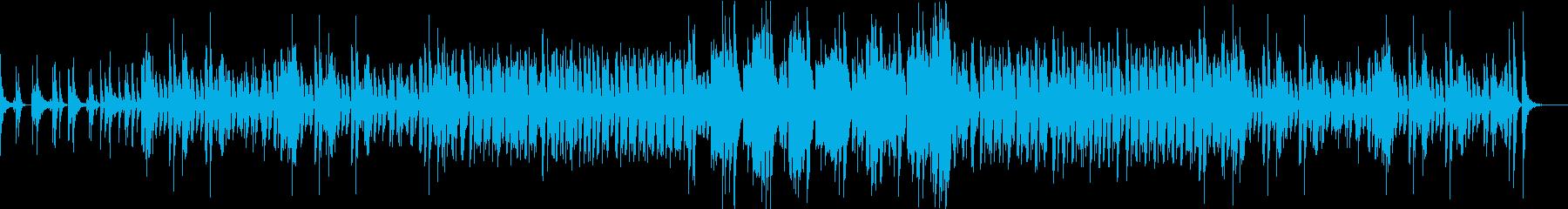 コミカルで幻想的な和風BGMの再生済みの波形
