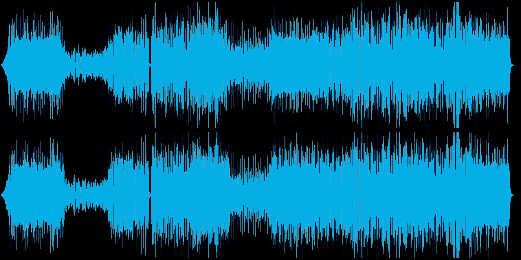 夜空や彗星をイメージしたロックバラードの再生済みの波形