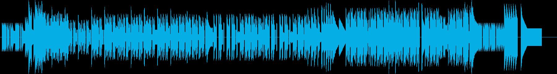 中華イメージのアップテンポチップチューンの再生済みの波形