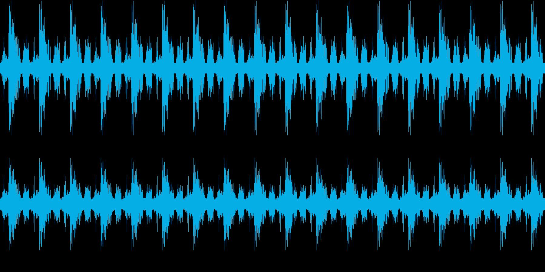 小鳥、雀のさえずり(環境音・自然音)の再生済みの波形