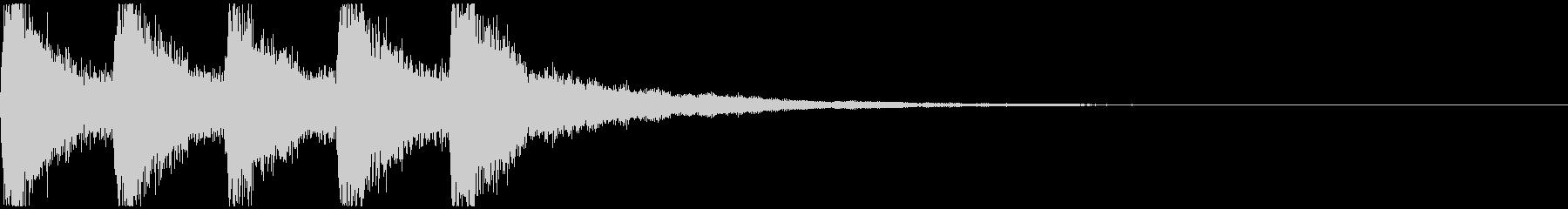 カーン、カーン、カーン(魔界の鐘の音)の未再生の波形