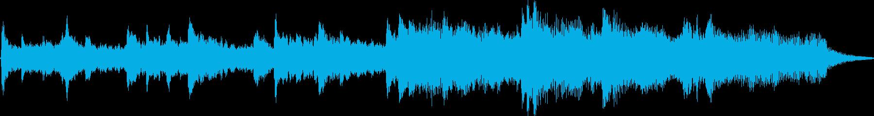 BGM whose transparent piano tone is impressive's reproduced waveform