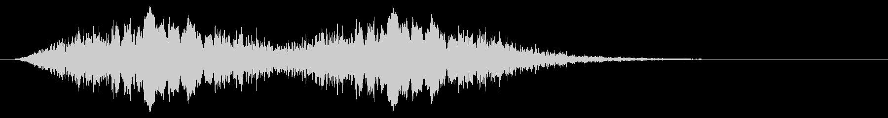 警告音 サイレン02-09(リバーブ 速の未再生の波形
