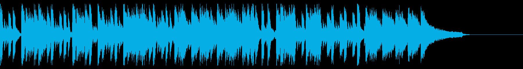 おしゃれ、現代的、CM、ピアノの再生済みの波形