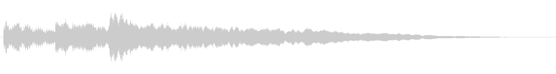 水と氷がテーマのアイキャッチ音の未再生の波形
