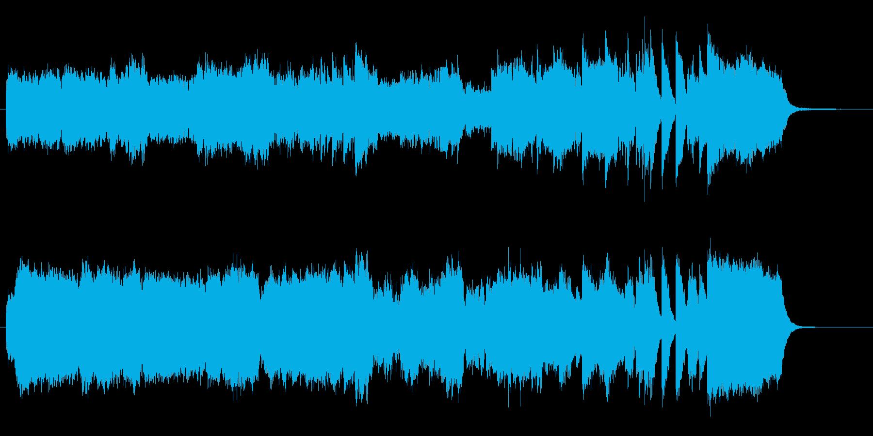 オリンピックっぽいファンファーレの再生済みの波形