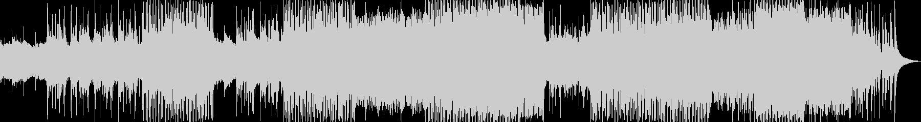 ピアノとシンセが美しい透明感のあるBGMの未再生の波形