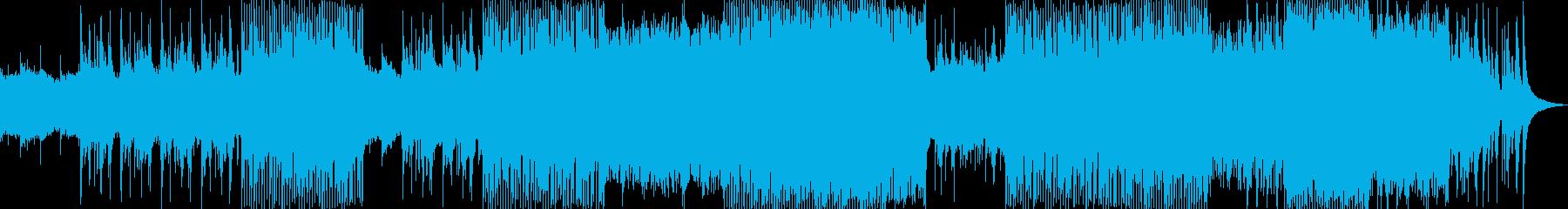 ピアノとシンセが美しい透明感のあるBGMの再生済みの波形