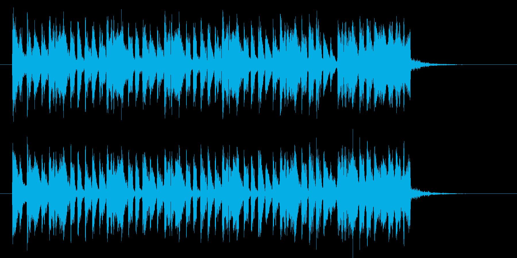 キャッチーでコミカルなポップジングルの再生済みの波形