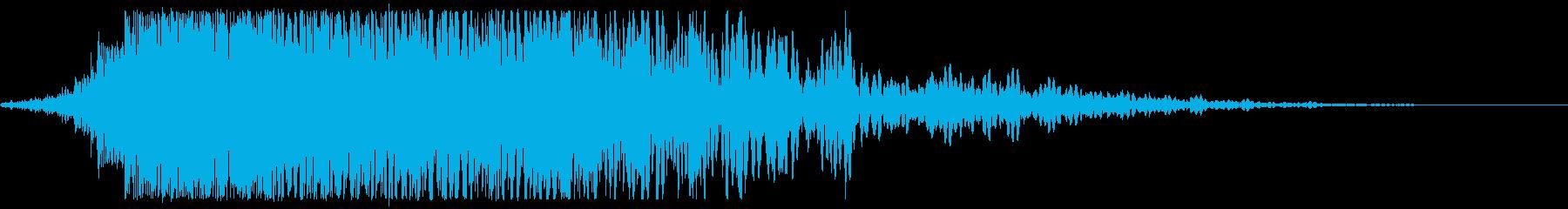 積極的な渦巻くヒューシューバースト...の再生済みの波形