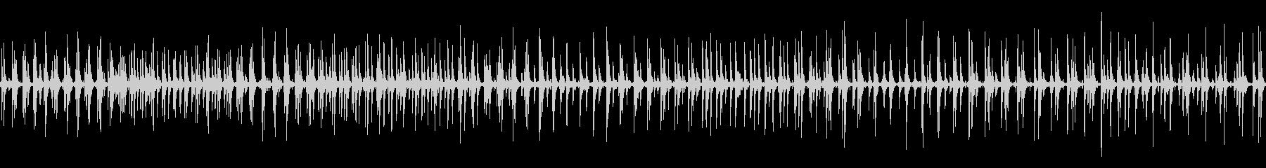 リズミカルなトタンに雨が落ちる音 ループの未再生の波形