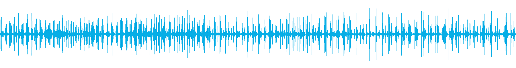 リズミカルなトタンに雨が落ちる音 ループの再生済みの波形