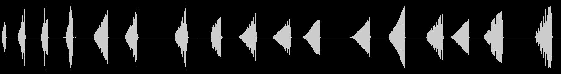 トーンベーススローアタックの未再生の波形
