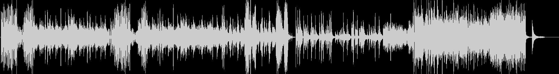 激しく切ないピアノソロ曲の未再生の波形