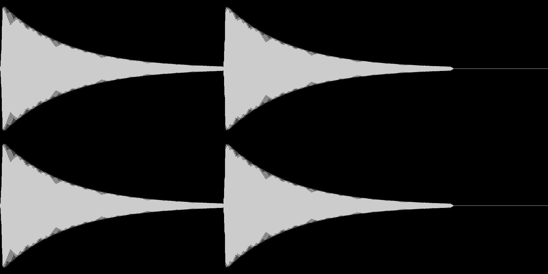 【SE】操作音09(ピピ)の未再生の波形