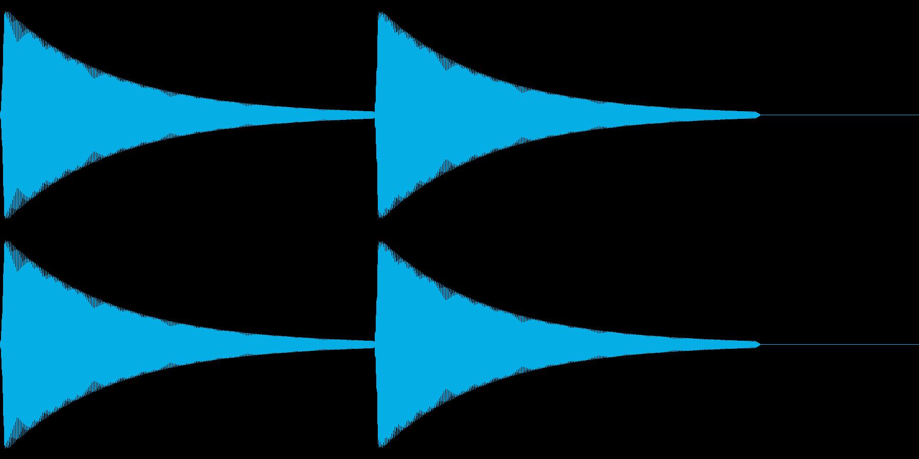 【SE】操作音09(ピピ)の再生済みの波形