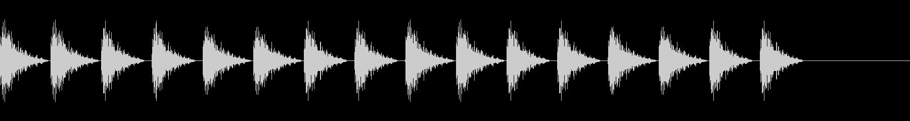 どんどん(巨人、速歩き)A20の未再生の波形