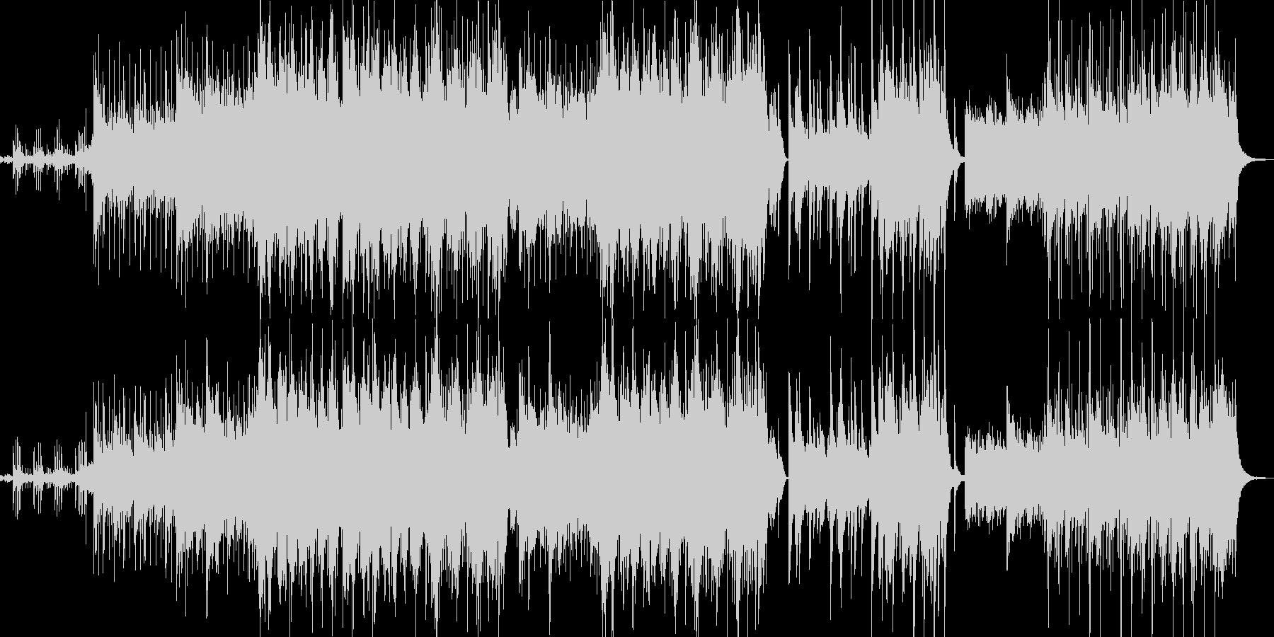 リラックスできるアコースティックメロディの未再生の波形