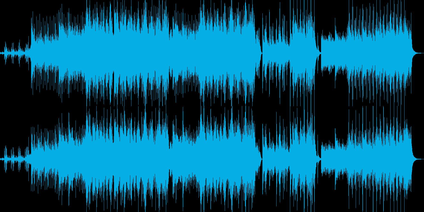 リラックスできるアコースティックメロディの再生済みの波形