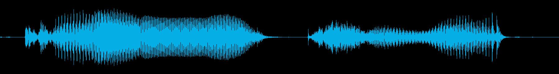 こんにちは…の再生済みの波形