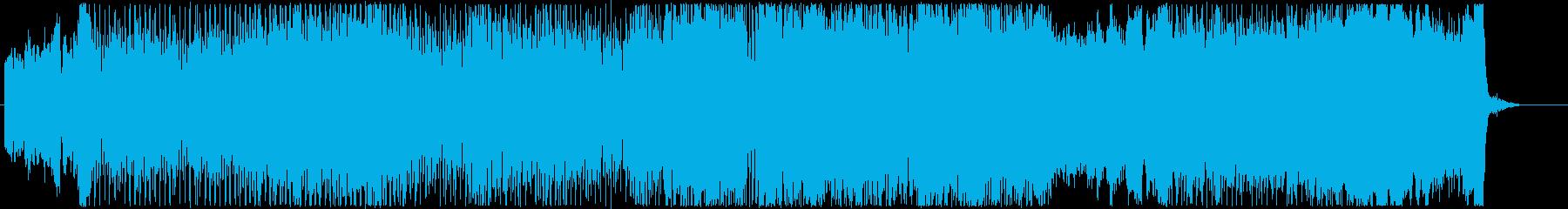 テンポの良いしあわせな雰囲気の曲の再生済みの波形