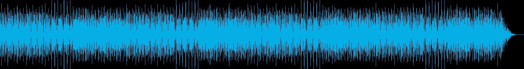 明るくポップな店舗用の楽曲の再生済みの波形