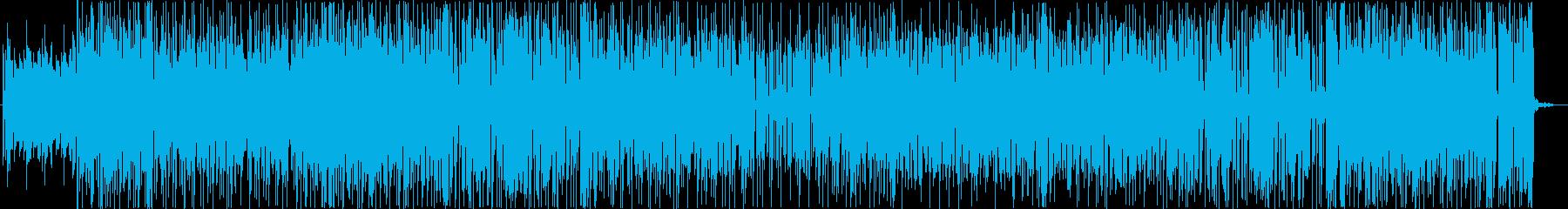 軽快なファンクサウンドの再生済みの波形