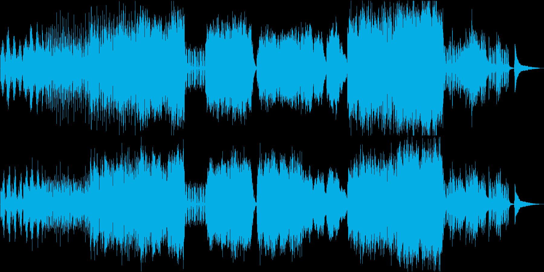 生演奏チェロ 渋めのバラードポップスの再生済みの波形