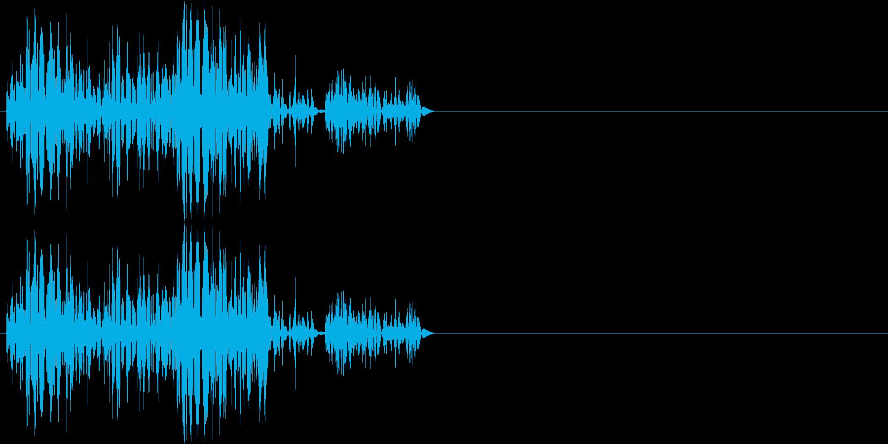 【ガスッ!】ファミコン系 破壊音_01の再生済みの波形