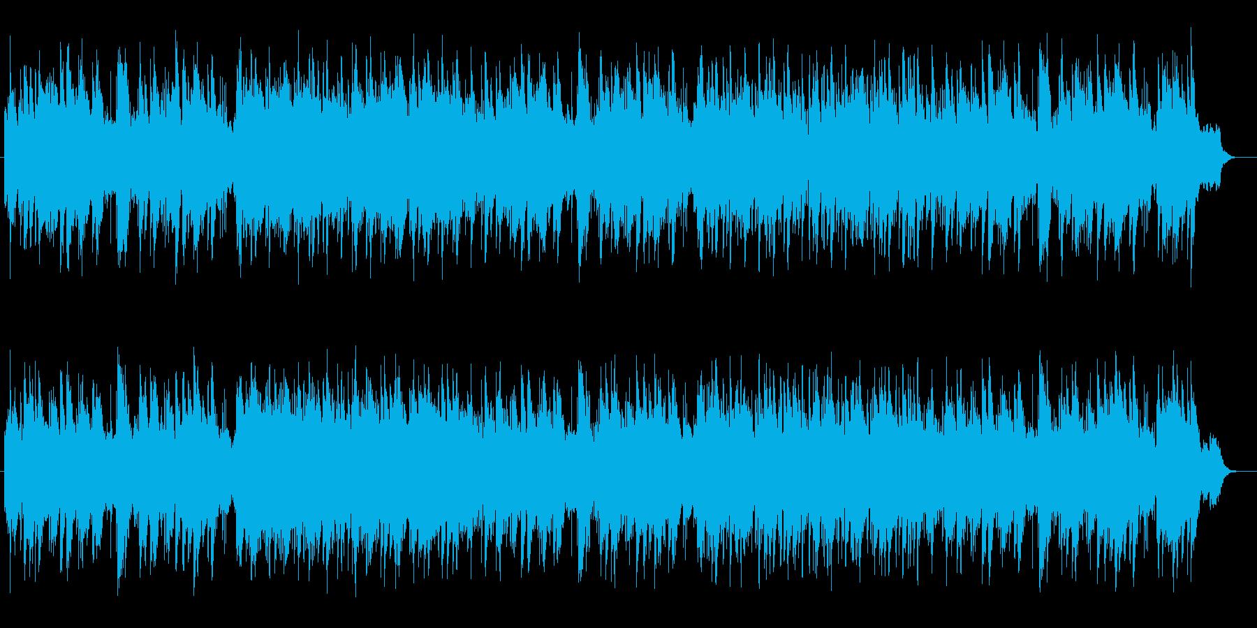 優しく穏やかなピアノのバラードの再生済みの波形