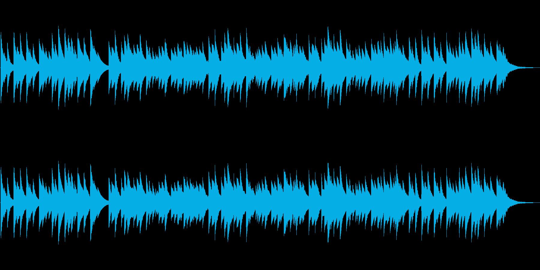 エレピの落ち着いた癒しのBGMの再生済みの波形