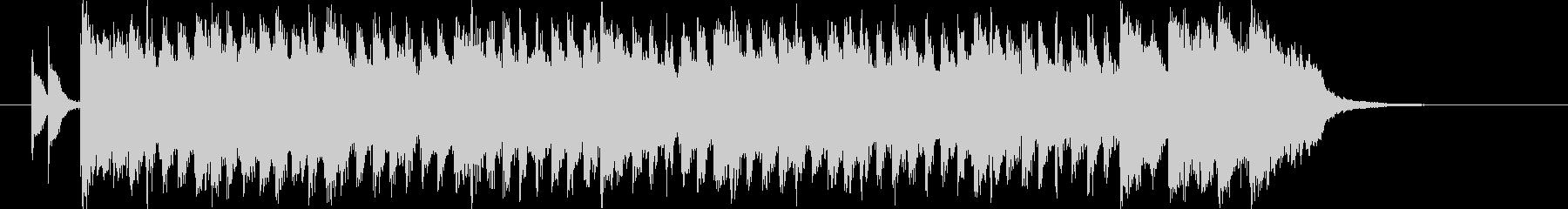 清々しく鉄琴が印象的なBGMの未再生の波形