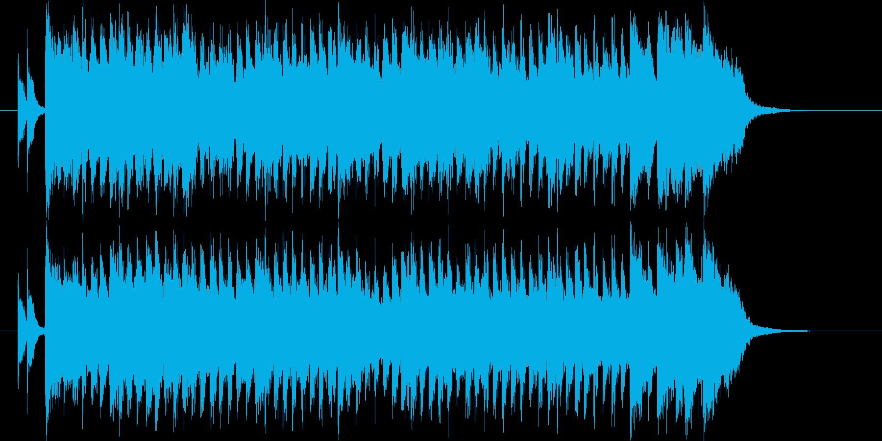 清々しく鉄琴が印象的なBGMの再生済みの波形
