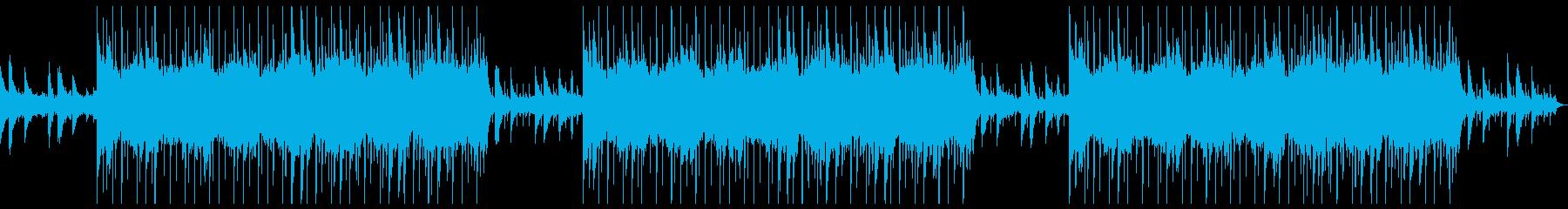 ダークで謎めいた雰囲気のアンビエント音楽の再生済みの波形