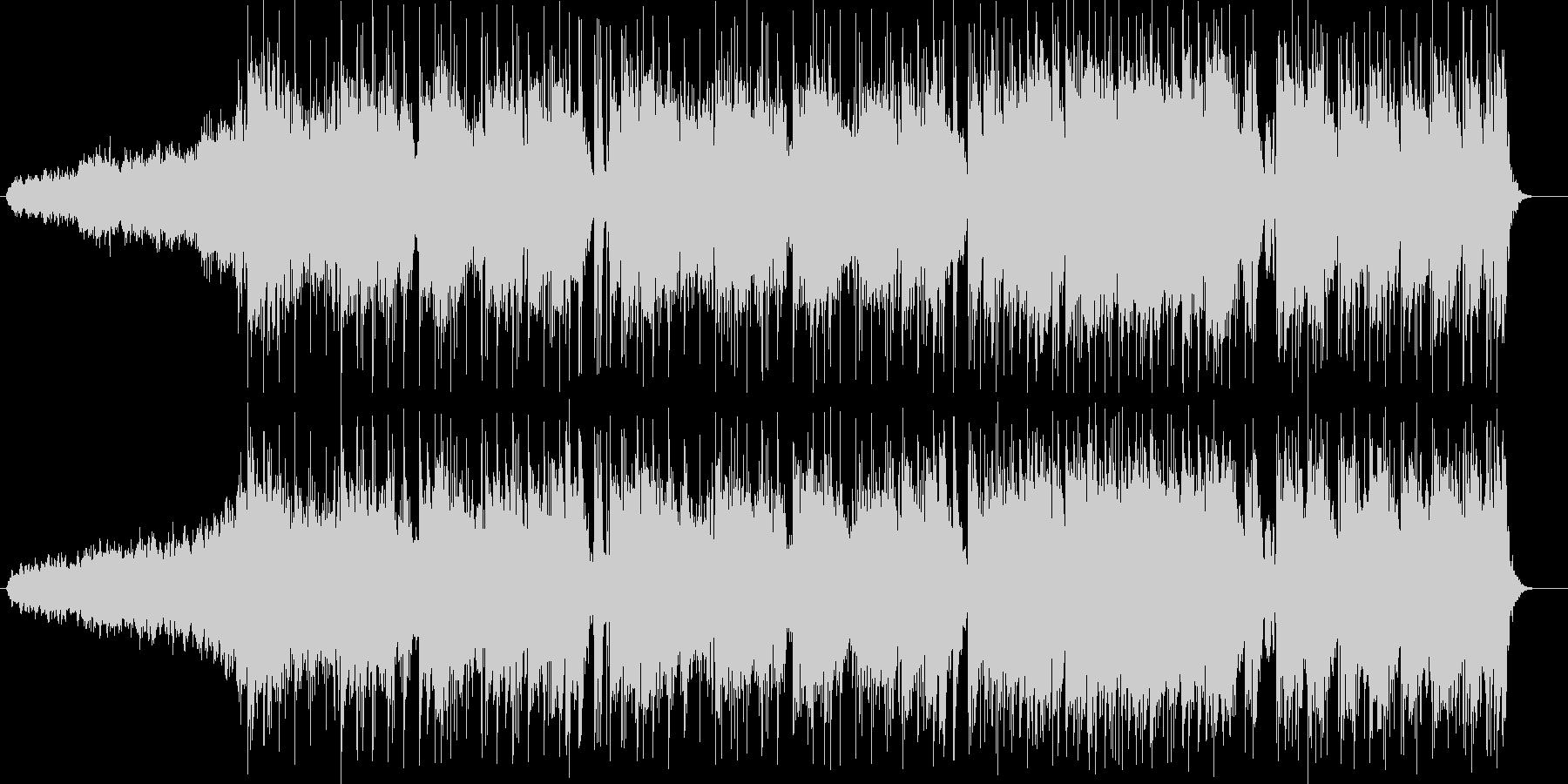 華麗でメロディアスなエレキサウンドの未再生の波形