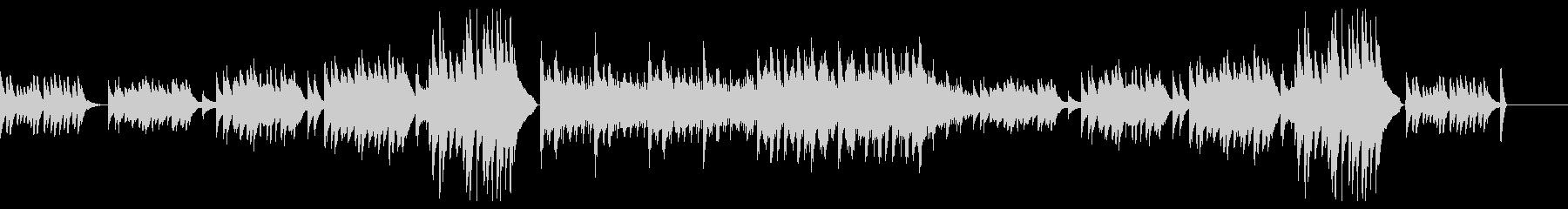 少し壮大なピアノ曲の未再生の波形