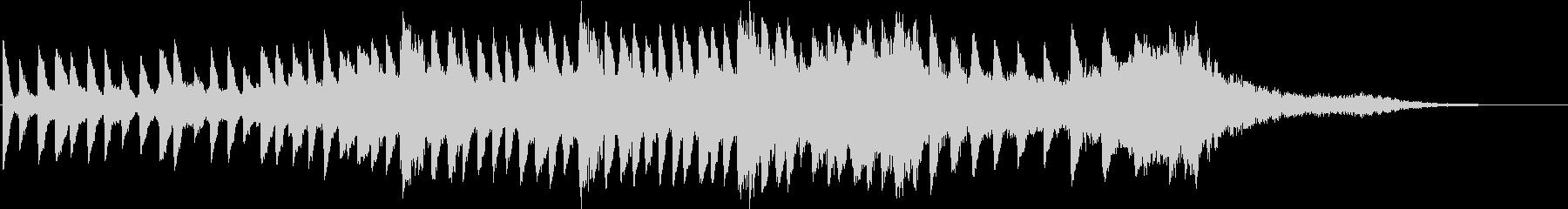 テンションビルダーズ不気味なピアノの未再生の波形