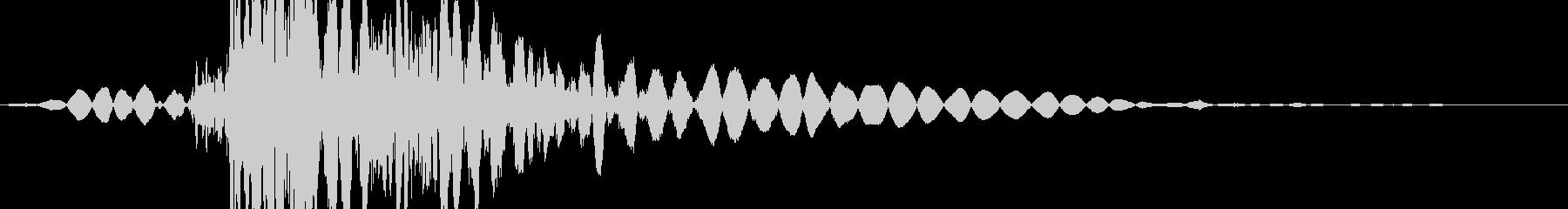 シューッという音。ヒューと低重音で...の未再生の波形