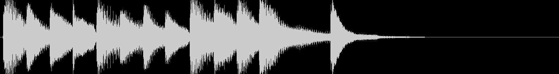 明るいピアノソロのジングルの未再生の波形
