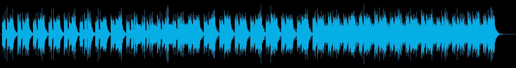 キレイに響く物悲しいミュージックの再生済みの波形