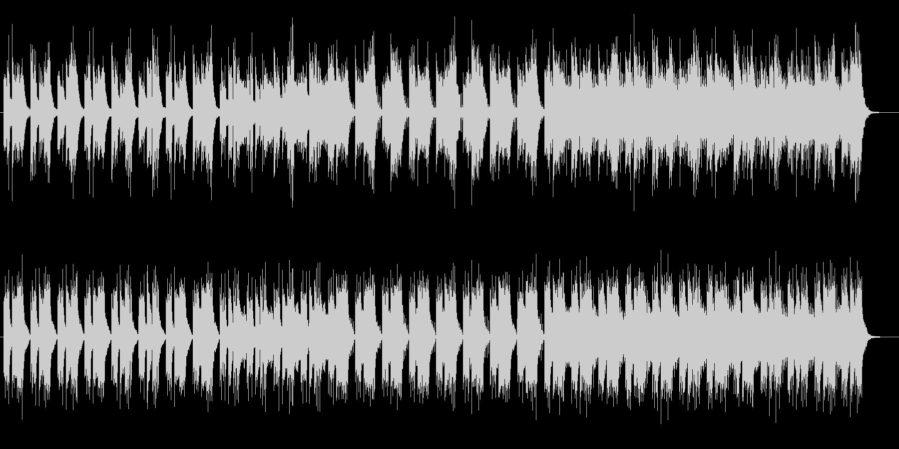キレイに響く物悲しいミュージックの未再生の波形