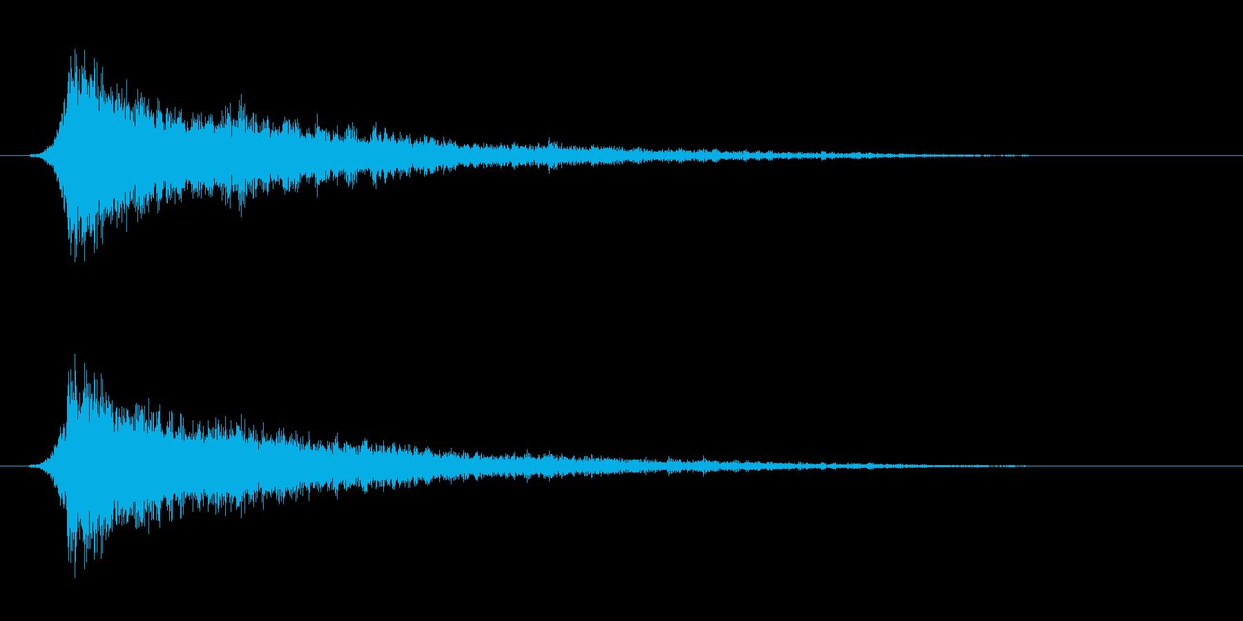 攻撃音。電撃系。ズシャーの再生済みの波形