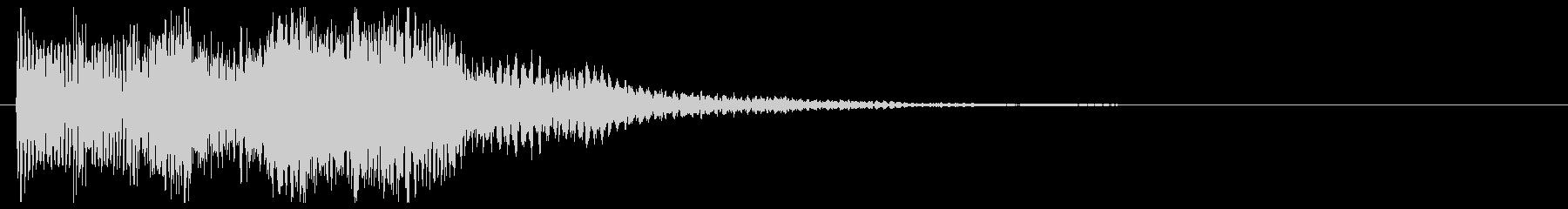 エレクトリックなピアノ 上昇音 タラララの未再生の波形