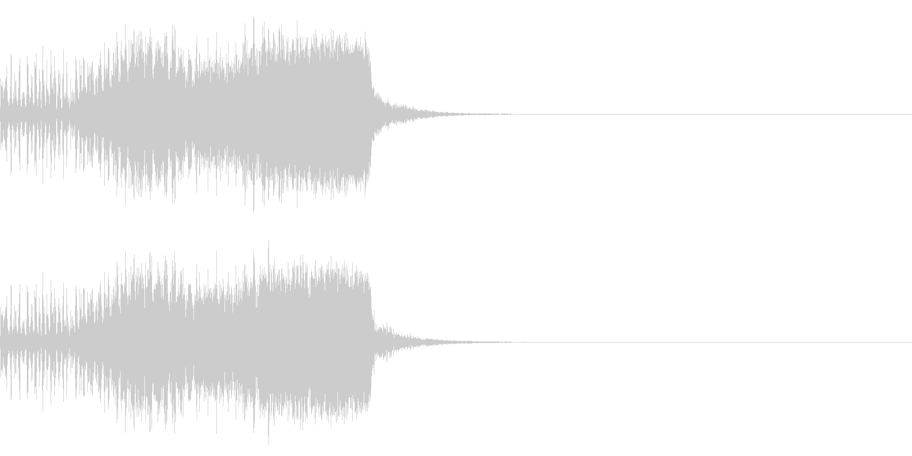 スパーク音-41の未再生の波形