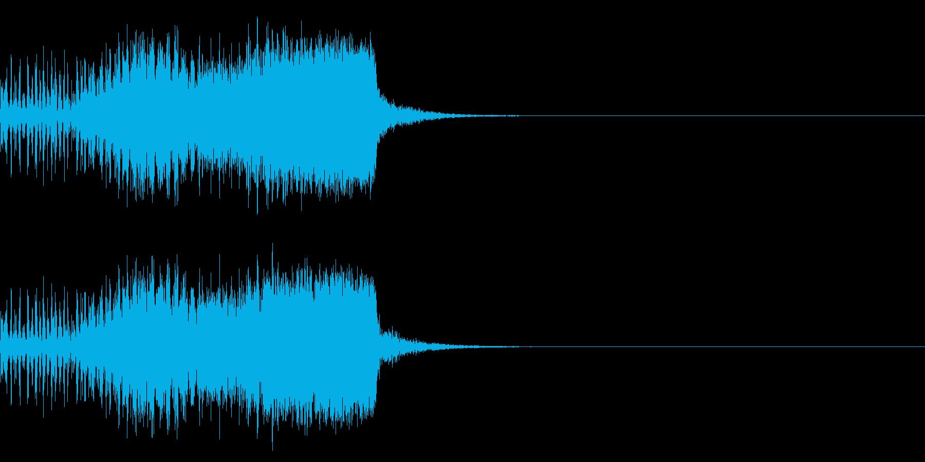 スパーク音-41の再生済みの波形
